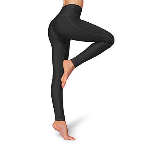 Occffy High Waist Out Pocket Yoga Pants Womens Tummy Control Workout  Leggings (Small a39ceda5966