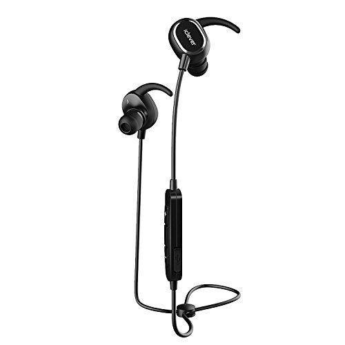 Auriculares deportivos con bluetooth iClever, con radio v4.1.Auriculares In-Ear estéreo con resistencia al sudor, para correr, con micrófono, para llamadas de manos libres para iPhone, iPad, Samsung Galaxy, Android Phone y otros dispositivos con bluetooth