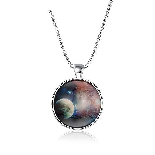 YDMSGSB Damen Halskette Anhänger Einfaches Glas Leuchtende Schlüsselbein Kette Geschenk Schmuck