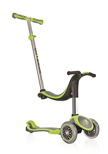 Globber Monopattino per bambini Evo 4 in 1 Plus, Bambino, Evo 4-In-1 Plus, Lime Green