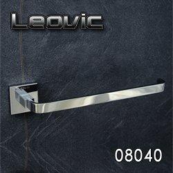 Leovic Handtuchhalter Handtuchstange aus massiver Messing mit edler Verchromung