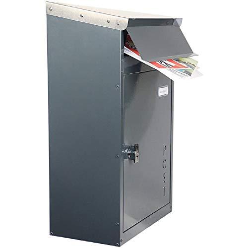 Safepost 854 TIAMAT Briefkasten anthrazitgrau - mit Edelstahldach - Exklusivmodell (inkl. 4 Schlüssel)