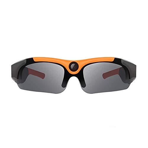 JAY-LONG 1080P High-Definition-Sportkamera-Brille, Reitkamera, Polarisierte Sonnenbrille Mit Mehreren Funktionen, Augenschutz Und Blendschutz, TF-Karte UnterstüTzen,Orange