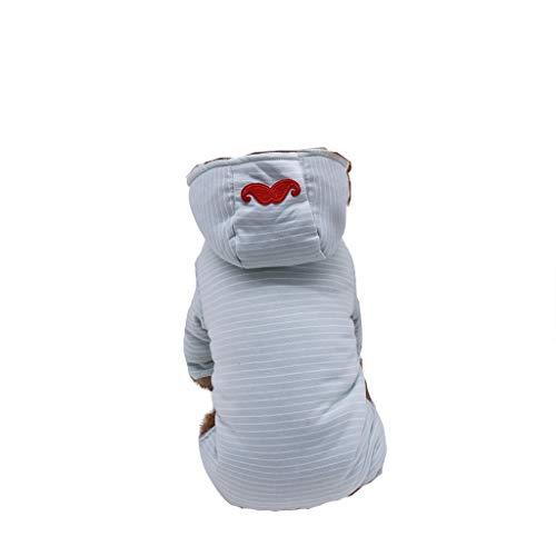 Timogee Hundemantel Warm Hundejacke für Hunde Haustier Hundehemd Kleidungs Mantel Kleidung Pullover Sweatshirt Winterjacke Warm Weste Katze Bekleidung Frühling Herbst Winter (Hunde Tragen Superman Kostüm)
