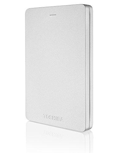 Toshiba Canvio Alu 500GB Externe Festplatte (6,4 cm (2,5 Zoll), 5400rpm, USB 3.0) silber