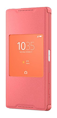 Sony Style Cover mit Fenster SCR44 für das Sony Xperia Z5 Compact - koralle