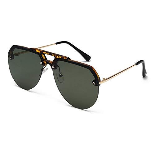 FIRM-CASE Mode Semi Randlos Pilot Red-Sonnenbrille-Frauen übergroße Sonnenbrillen Vintage Retro Sunglass, 2