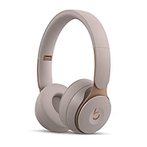 Beats Solo Pro Wireless Noise Cancelling On-Ear Headphones - Apple H1 Headphone Chip, Class 1 Bluetooth, Active Noise Cancelling, Transparency, 22 Hours of Listening Time - Gray