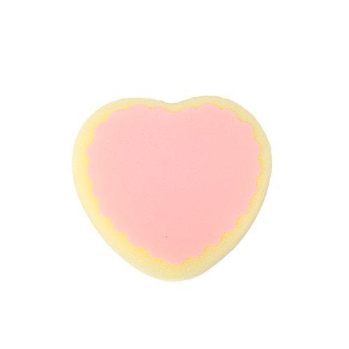 attachmenttou La eliminación depilatoria pelo de la esponja esponja eficaz goteo en forma de corazón Depiladora belleza