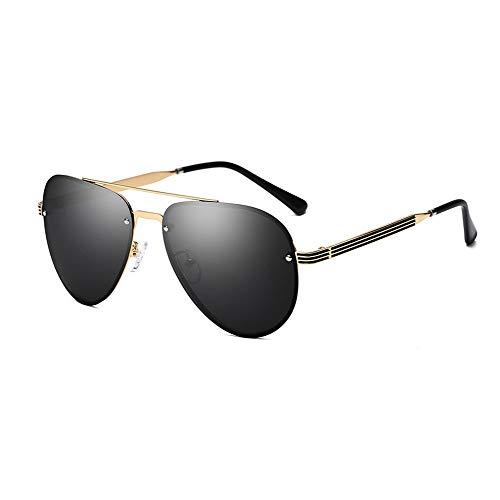Sonnenbrillen Male Polarized Frog Mirror Fahrspiegel, Anti-UV-Sonnenschutz, Geeignet Für Eine Vielzahl Von Gesichtstypen Mit Guter Beständigkeit (Farbe : Gold frame)