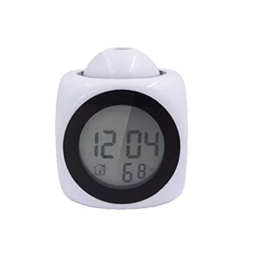 Yudanny Reloj Despertador Digital Voz multifunción Que Habla LED Temperatura de proyección