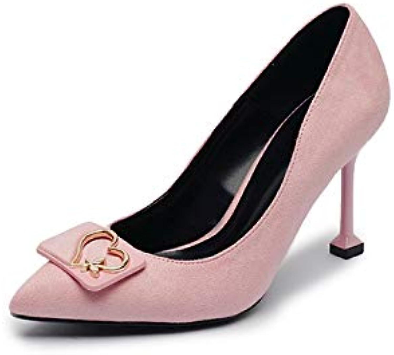 KOKQSX-solo scarpe scarpe scarpe tacco alto 7cm superficiale bocca camoscio puntata dritta. 41 rosa | Essere Nuovo Nel Design  | Sig/Sig Ra Scarpa  1912f0