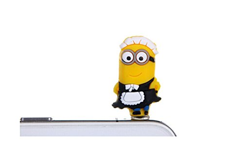 Anishop Sheff Minion Cartoon 3.5 Audio Jack Multicolor Anti-dust Plug Mobile Phone Plug Headphone Jack Earphone Cap Ear Cap Dustproof Plug Charm iPhone Plug Charm for iPhone 4 4S 5 5S HTC Samsung Ipad 2 3 4 Mini Ipod Blackberry Sony Nokia etc.