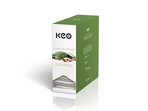 Keo Tee - GRÜNER TEE PFIRSICH - 15 Teachamps im Aromakuvert