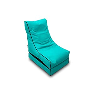 Pufmania Bean Bag Beanbag Lounger Polyester Waterproof 50 x 75 cm Folded/150 x 70 cm Deployed (Turquoise)