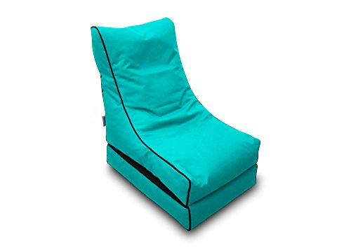 Pufmania Bean Bag Beanbag Lounger Polyester Waterproof 50x 75cm Folded/150x 70cm Deployed (Turquoise)