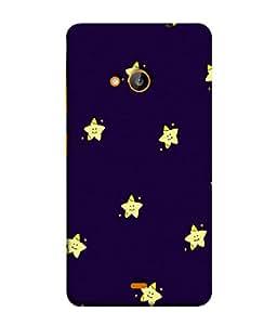 PrintVisa Designer Back Case Cover for Microsoft Lumia 535 :: Microsoft Lumia 535 Dual SIM :: Nokia Lumia 535 (Star Happy Face Smile Yellow )