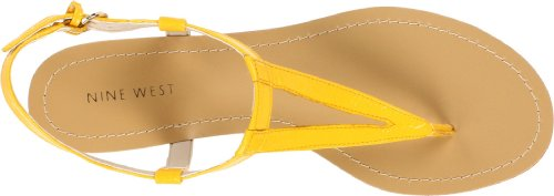 Nine West  Nwweightless-Synthetic,  Sandali donna Giallo (giallo)