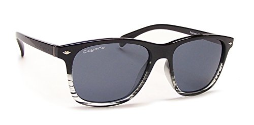 Coyote Eyewear Dakota Polarisierte Street & Sport Sonnenbrille, unisex, Black Crystal Fade Frame/Gray Lens