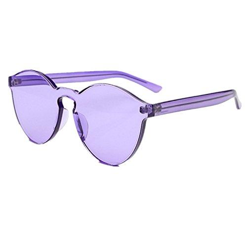 ZYPMM 2017 neue koreanische im Freiendamen Sonnenbrille männliche Plastiksonnenbrille Europa und die Vereinigten Staaten Tendenz Retro Gläser polarisiertes Licht ( Color : Lila )