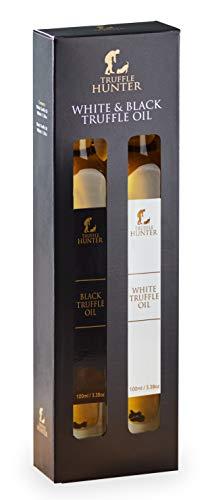 Black & White Truffle Oil Set (100ml) by TruffleHunter - Vegan, Vegetarian, Kosher & Gluten Free - in a Presentation Gift Box Pack Set