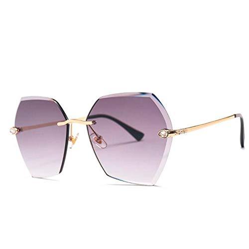 HYUHYU Hohe Qualität Randlose Quadratische Sonnenbrille Frauen Markendesigner Strass Farbverlauf Sonnenbrille Für Weibliche Neue Shades