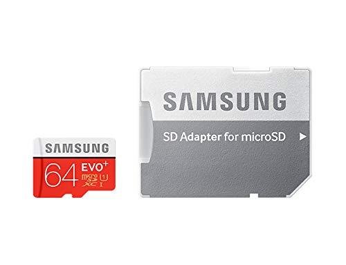 Samsung Speicherkarte MicroSDXC 64GB EVO Plus UHS-I Grade 1 Class 10, für Smartphones und Tablets, mit SD Adapter (Sd-karten-speicher 64)