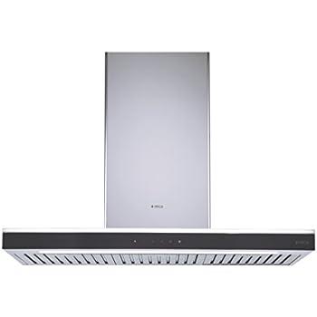 Elica 90 cm 1220 m3/hr Chimney (MOON ETB PLUS LTW 90 TOUCH LED S, 2 Baffle Filters, Touch Control, Steel & Black)