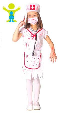 Imagen de disfraz de enfermera zombie talla 10 12 años