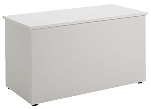 Banc coloris blanc, L 88 x H 44,9 x P 40 cm -PEGANE-