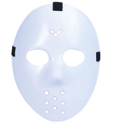 Preisvergleich Produktbild Weiß Hockey-Maske von Jason aus dem Film 'Freitag der 13. Halloween Fancy Dress