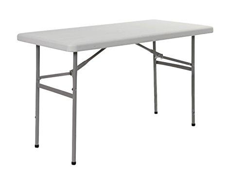 Red Mountain Faltbarer Tisch weiß 122x 61x 74cm (Faltbare Sitzbank Tisch)