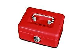 rote Geldkassette mit Münzeinwurf