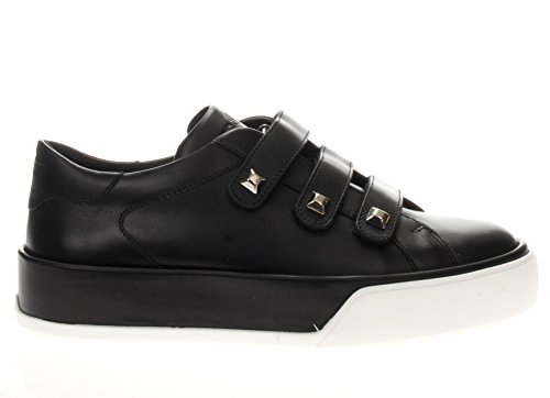 Hogan Tri Strap Nero R320 Sneaker Lavorazione Donna Borchie HXW3200J140BTLB999 OxUrOPf