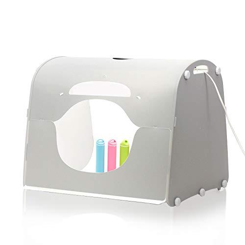 TxDike Lan LED-Tragbares Weiches Licht-Fotokasten, Fotografie-Arbeitslichtkasten, Schießzelt-Kit, Desktop-Fotostudio, Mit Hintergrund,40cm