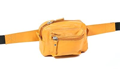 Sac banane LEAS, cuir véritable, orange - ''LEAS Travel-Line''