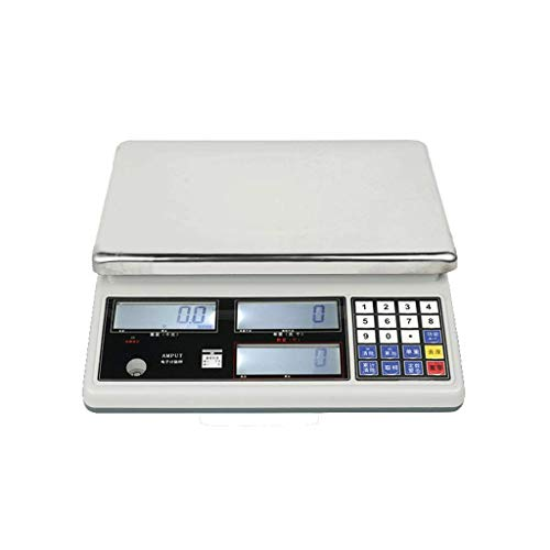 HYLH Electronic Digital Scales,Industrial Counting Point Table Docking Stylish Cooking for Home Weigh PLC 15kg/0.5g, 30kg/1g (Size : 15kg/0.5g) Power-ac-powered Sensor