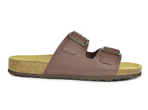 52c5d1055 Sanosan Aston Leather Two Strap Sandals Dark Brown Womens - 07 UK