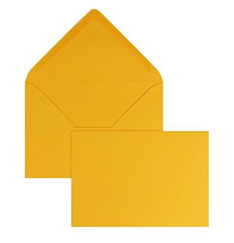 Blanke Briefhüllen - 100 Briefhüllen im Format 90 x 140 mm in Zartorange