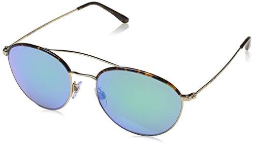Armani Damen 0AR6032J 302131 55 Sonnenbrille, Gold/Lightblueemirrorgreen,