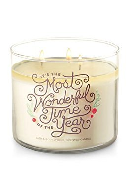 Bath and Body Works White Barn 3 Docht Kerze Fresh Balsam IT 'S The Most Wonderful Time of The Year Thema