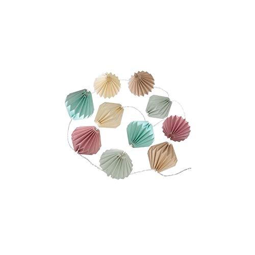 AC-Déco Guirlande de 10 LED en Origami - L 33 x l 13 x H 6 cm - Couleur Pastel