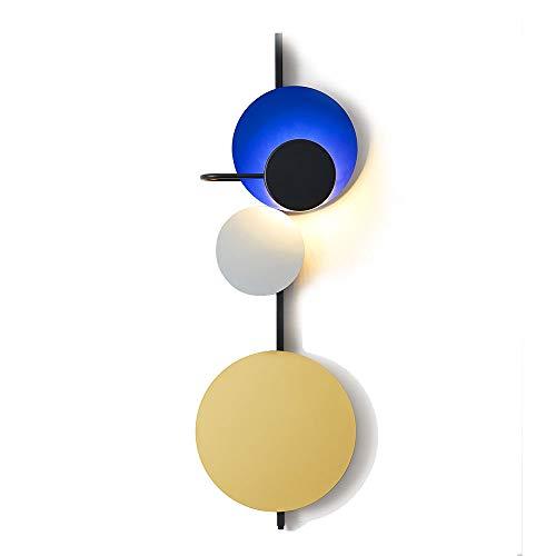 SOLUCKY LED Mur lumière Nordique Minimaliste Design Villa café Chic Salon Chaud Chambre à Coucher Chambre de Chevet Lampe Murale (Bleu),B