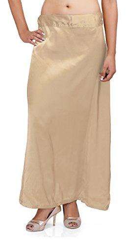 Pkyc Women's Satin Petticoat (Beige, 48)