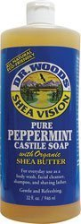 Dr. Woods Shea Vision Pure Castile Soap with Organic Shea Butter Almond -- 32 fl oz by Dr. Woods