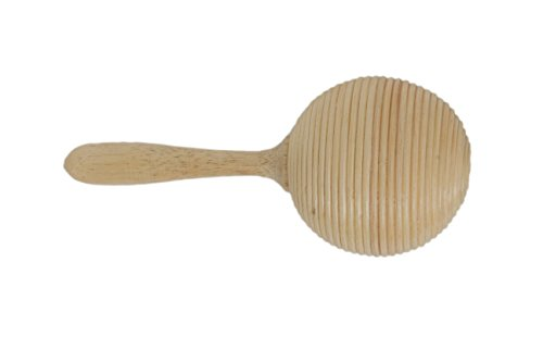 Holzrassel Holz Rassel Shaker Percussion Handrassel Bambus Rattan Look Marakas