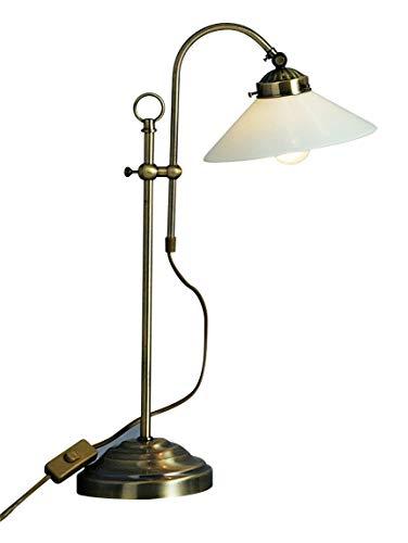 Antike Schreib Tisch Lampe Lese Leuchte Altmessing Büro Beleuchtung Globo 6871