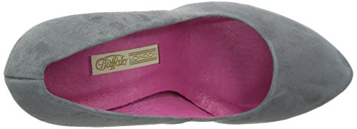 Buffalo London 9669-177 BL KID SUEDE 115880, Scarpe eleganti donna Grigio