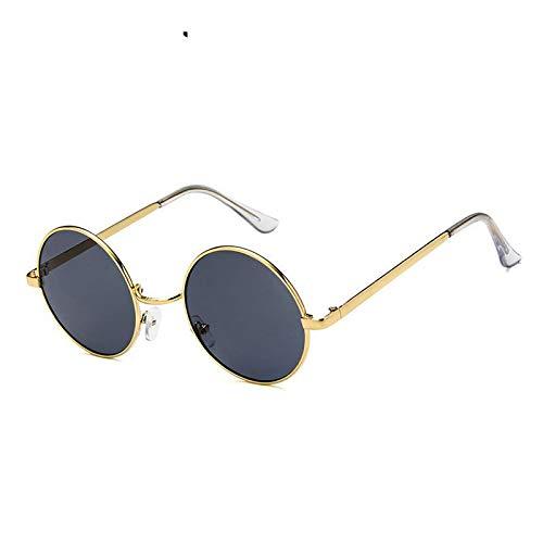 AAMOUSE Sonnenbrillen Mode Transparente SonnenbrilleMetall Sonnenbrille Herren Runde Sonnenbrille Steampunk SonnenbrilleDamen Sonnenbrille Farbe Herren