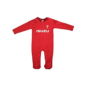 Wales WRU 2017/18 Infants Rugby Sleepsuit - Red